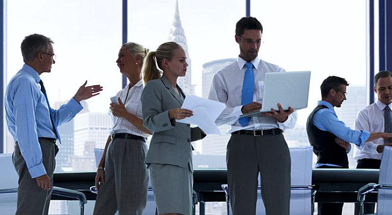 business professionals having meeting